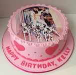 Birthday cake with the photo of Ariana Grande