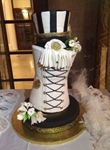 Cake in a shape of a corset and a hat