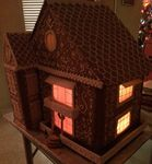 Gingerbread house with the lights