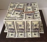 100 dollar bills made of edible paper